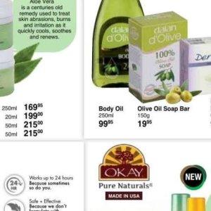 Body oil at Dis-Chem Pharmacies