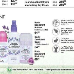 Deodorant at Dis-Chem Pharmacies