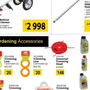 Trimming at Builders Warehouse