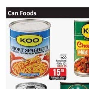 Spaghetti at Kit Kat Cash&Carry
