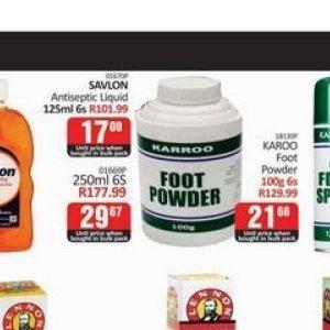 Foot powder at Kit Kat Cash&Carry