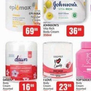 Body cream at Kit Kat Cash&Carry