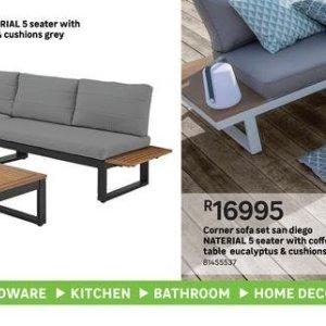 Corner sofa at Leroy Merlin