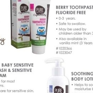 Body lotion at Baby City