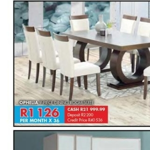 Dining room set at Beares