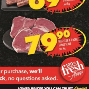 Beef at Shoprite