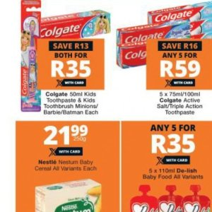 Toothpaste colgate  at Checkers