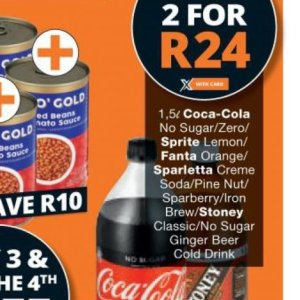 Fizzy drink at Checkers Hyper