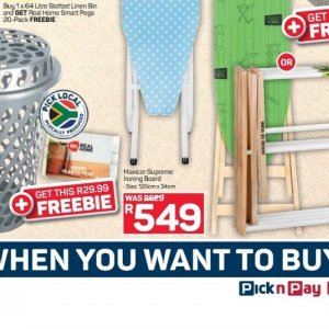 Ironing board at Pick n Pay Hyper