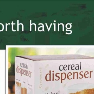 Cereal at Big save