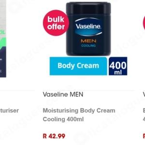 Body cream at Clicks