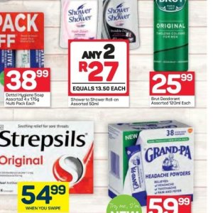 Shower at Pick n Pay Hyper