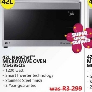 Microwave oven at Tafelberg Furnishers