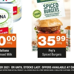 Spiced burgers at Check Star