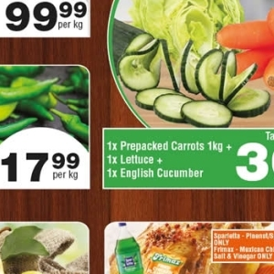 Cucumbers at Check Star