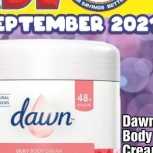 Body cream at Three Star Cash and Carry
