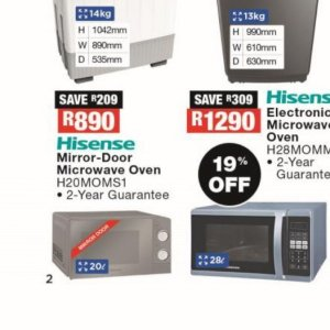 Microwave oven at OK Furniture