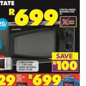 Microwave oven at Shoprite