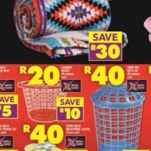 Laundry basket at Shoprite