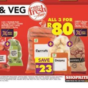 Carrots at Shoprite