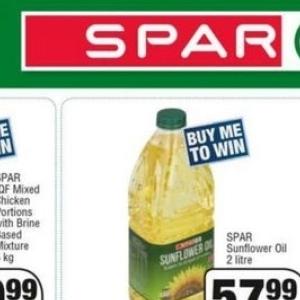 Sunflower oil at Spar