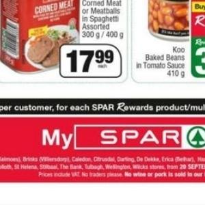 Pork at Spar