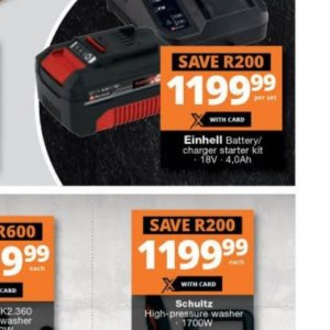 Battery charger at Checkers Hyper