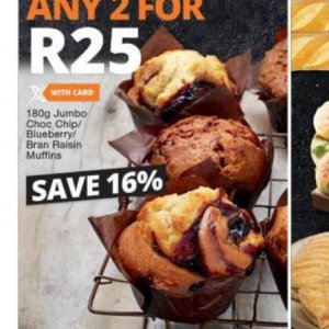 Muffins at Checkers