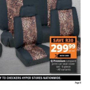 Seat cover at Checkers