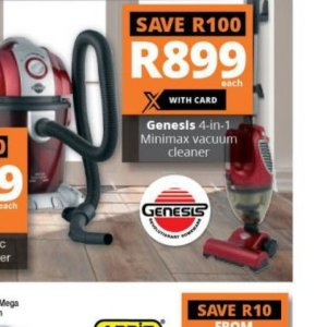 Vacuum cleaner at Checkers