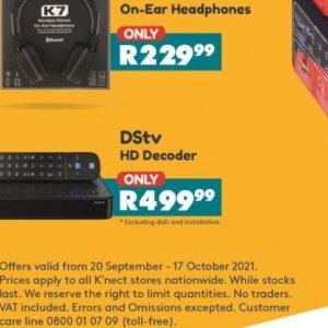 Digital TV decoder at Shoprite