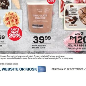Mousse at Pick n Pay Hyper