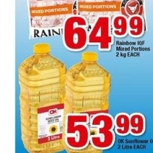 Sunflower oil at OK Minimark