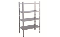 Rack of shelves